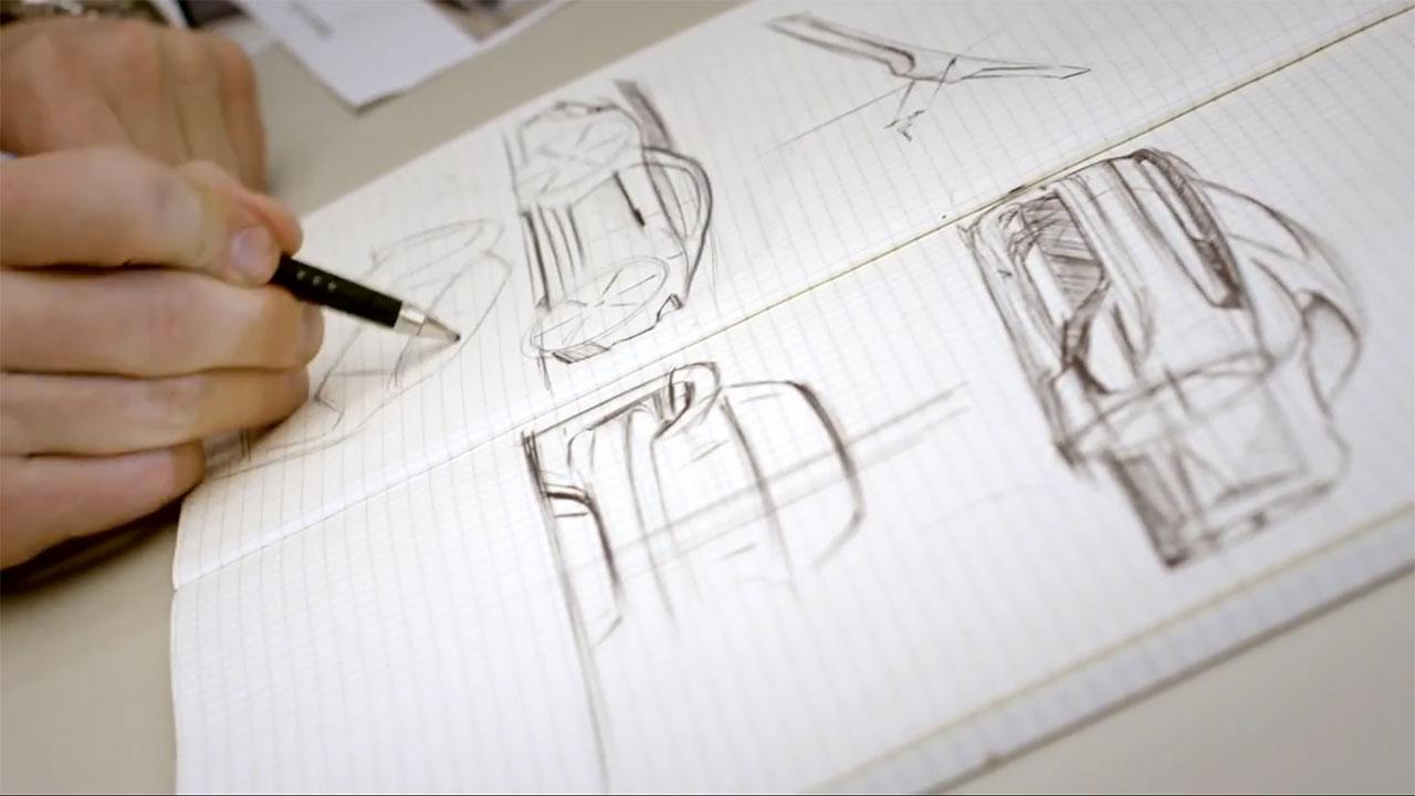 Porsche Mission E Concept Design Sketching Car Body Design