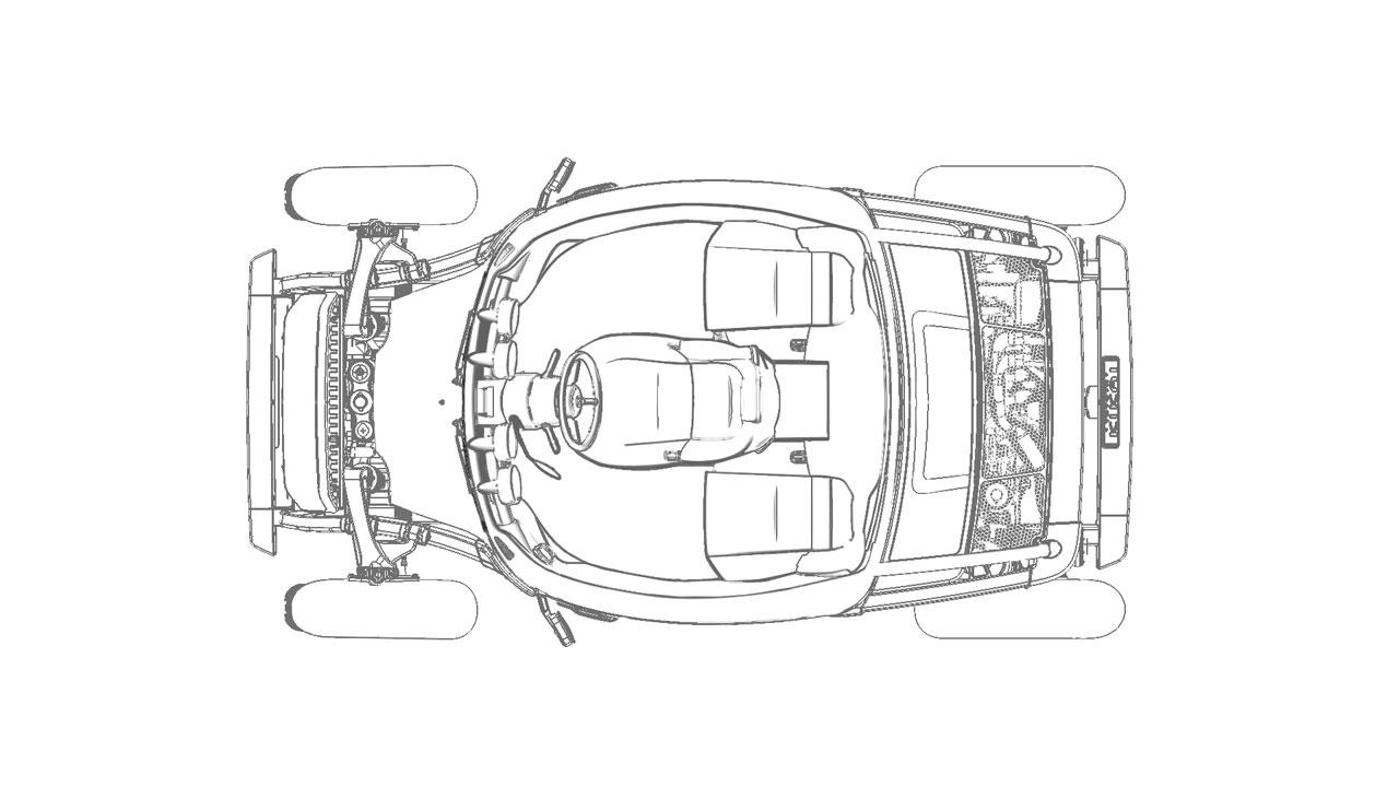 Toyota kikai concept top view blueprint car body design toyota kikai concept top view blueprint malvernweather Gallery