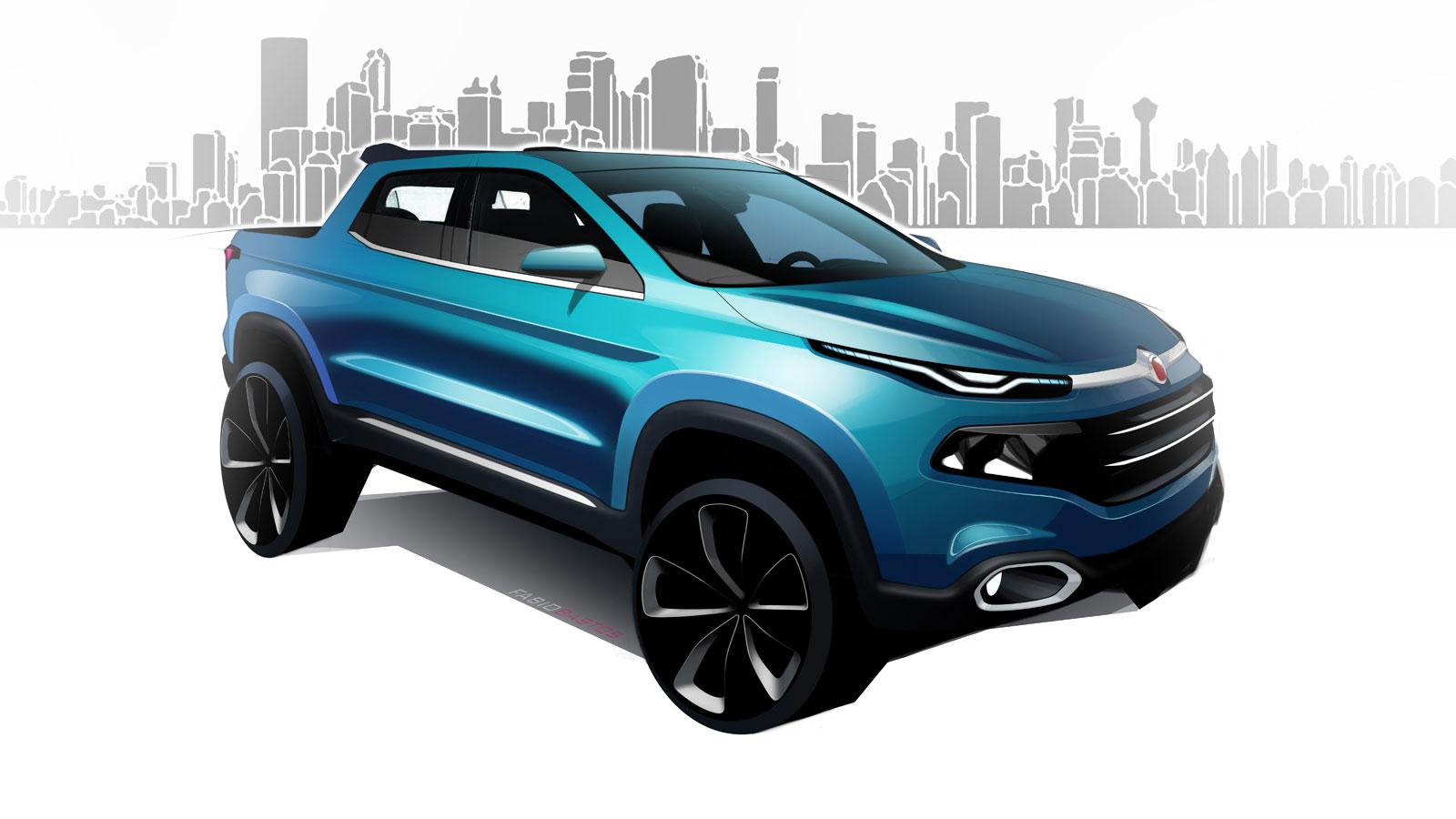 Fiat Toro Design Sketch Render Car Body Design