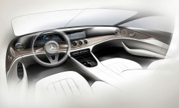 Mercedes-Benz E Class Interior Design Sketch