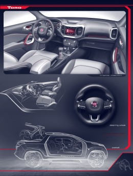 Fiat Toro - Interior Design Sketch Renders Board by Juliano Villas Boas