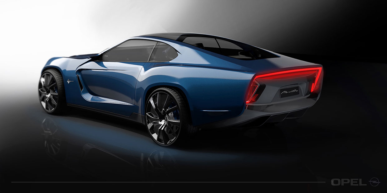 Opel Manta Concept - 3D Rendering - Car Body Design