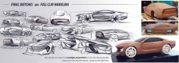Opel Manta Concept - Design Sketches and clay model