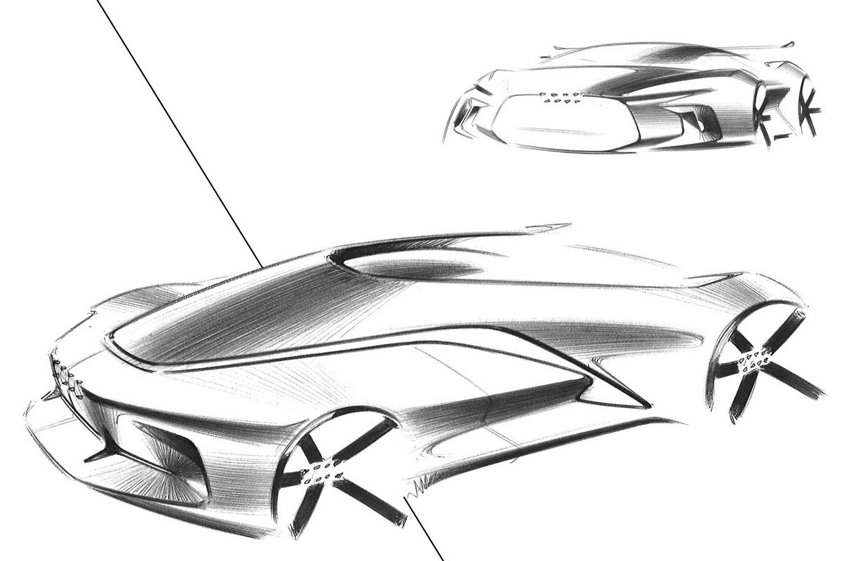 audi concept design sketch by gaurang nagre car body design