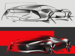 Audi Concept Design Sketches by Gaurang Nagre