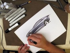 How to Sketch Car Reflections with Copic Markers