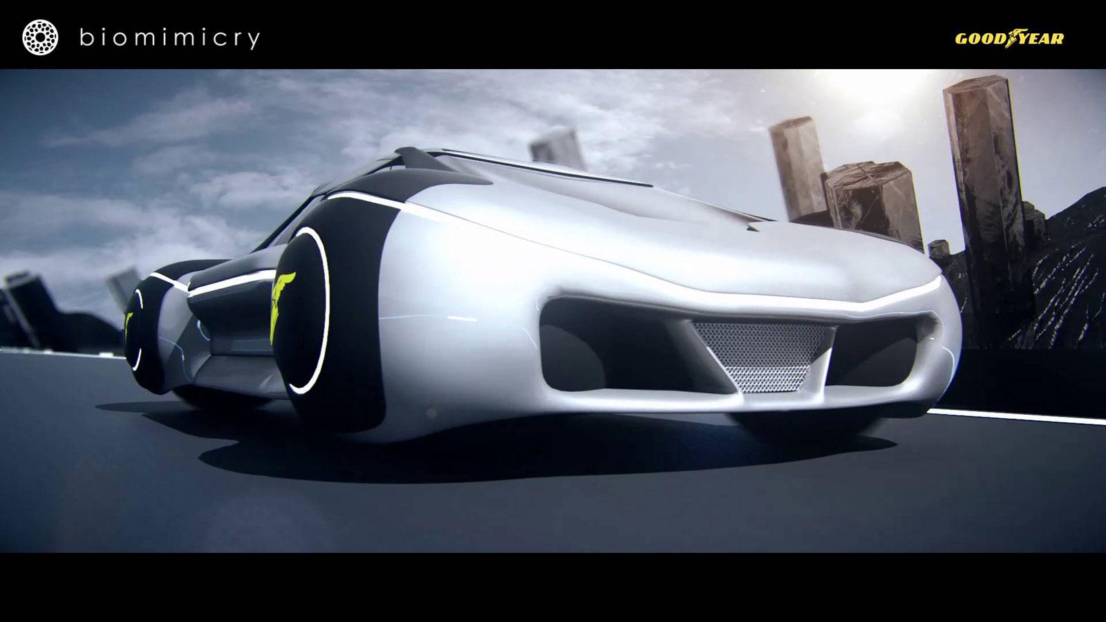 Goodyear eagle 360 spherical concept tire car body design