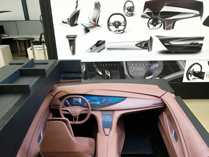 interior design process at buick the role of clay sculpting car body design. Black Bedroom Furniture Sets. Home Design Ideas