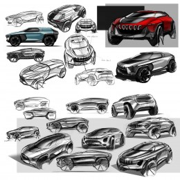 Jeep Concept Design Sketches by Kefeng Liu