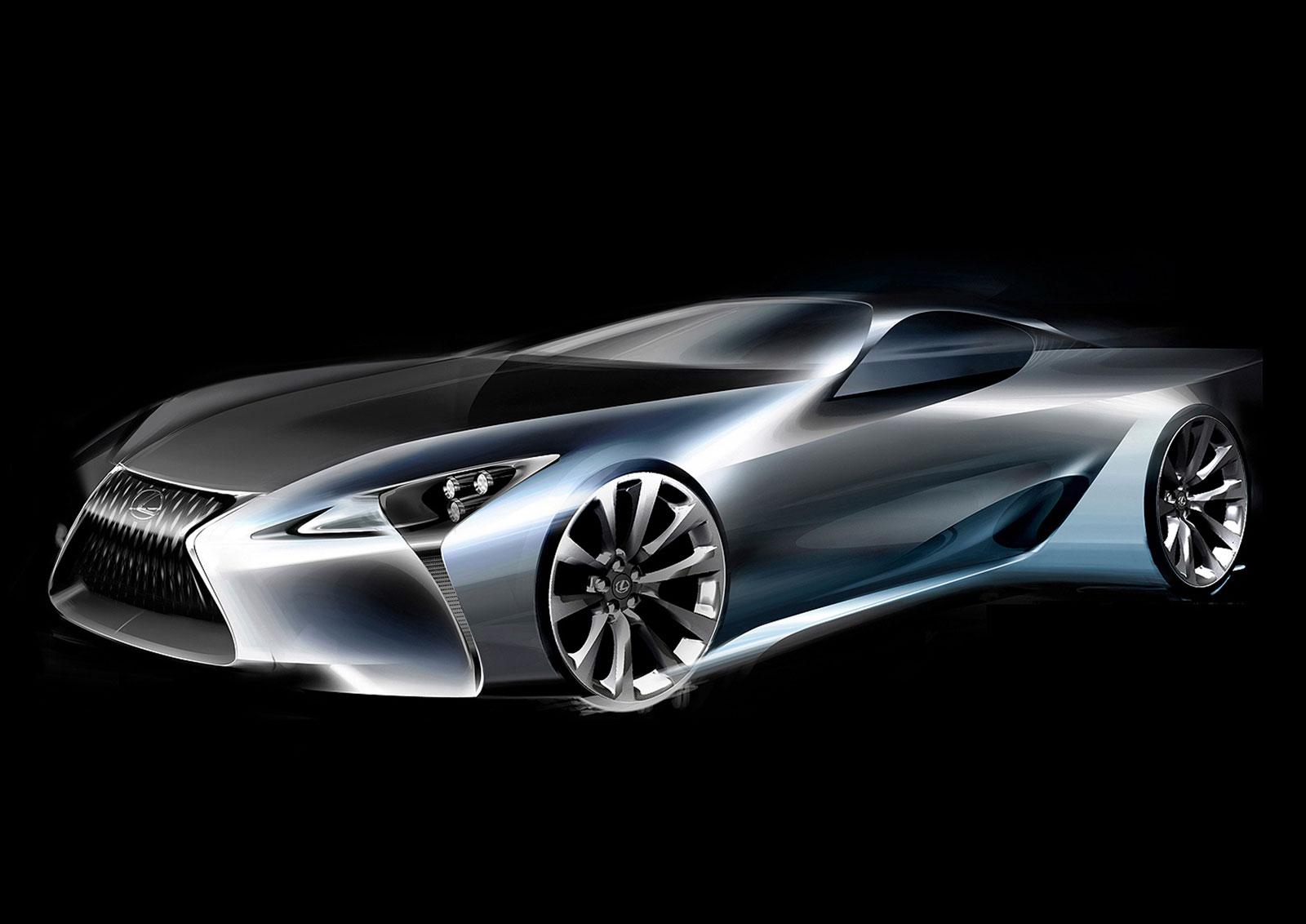 Lexus Lc Design Sketch Car Body Design