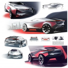 Lincoln mid-size CUV Concept Design Sketches by Takashi Kumamoto