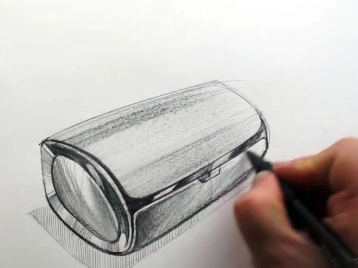 Product Design Sketching: Bluetooth Speaker