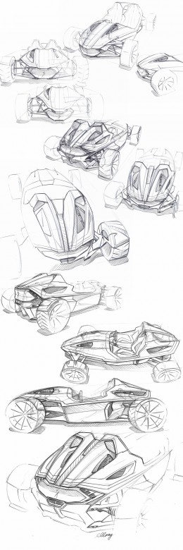 Roadster Concept Design Sketches by Michael Gray