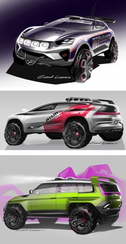 SUV and Baja racers - Design Sketches by