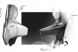 Scania Interior Design Sketches by Arash Karimi