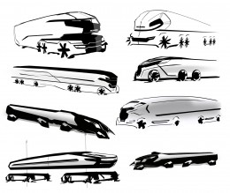 Scania Truck Concept Design Sketches by Michael Bedell