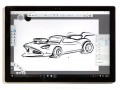 Sketching a Hot Wheels-style car in Surface Pro 4