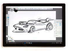 Sketching-a-Hot-Wheels-style-car-in-Surface-Pro-4