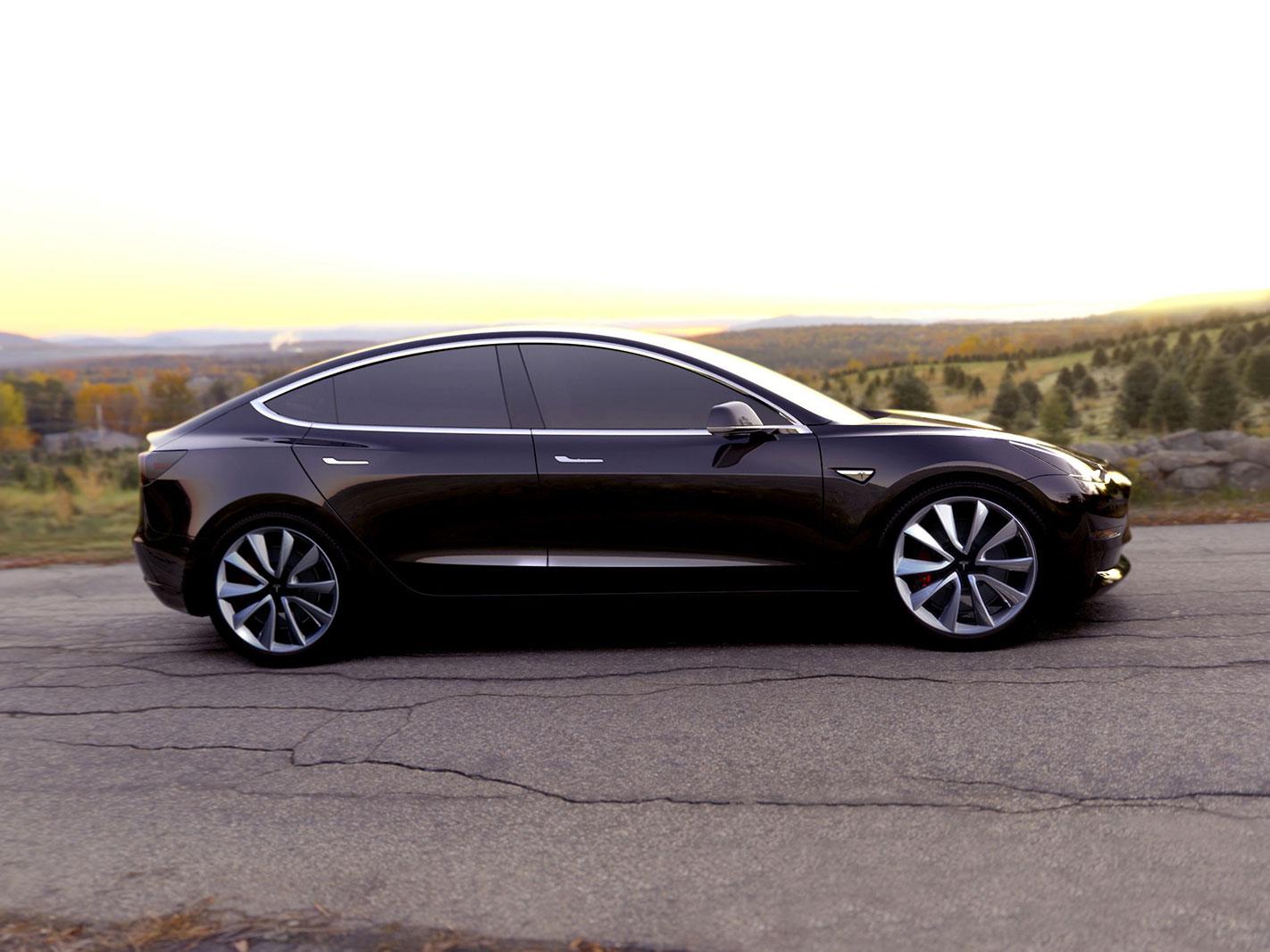 Tesla model 3 car body design
