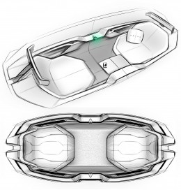 Volvo Interior Design Sketches by Siyuan Fang