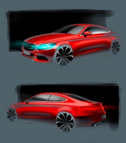 Mercedes-Benz C Class Coupe Design Sketch