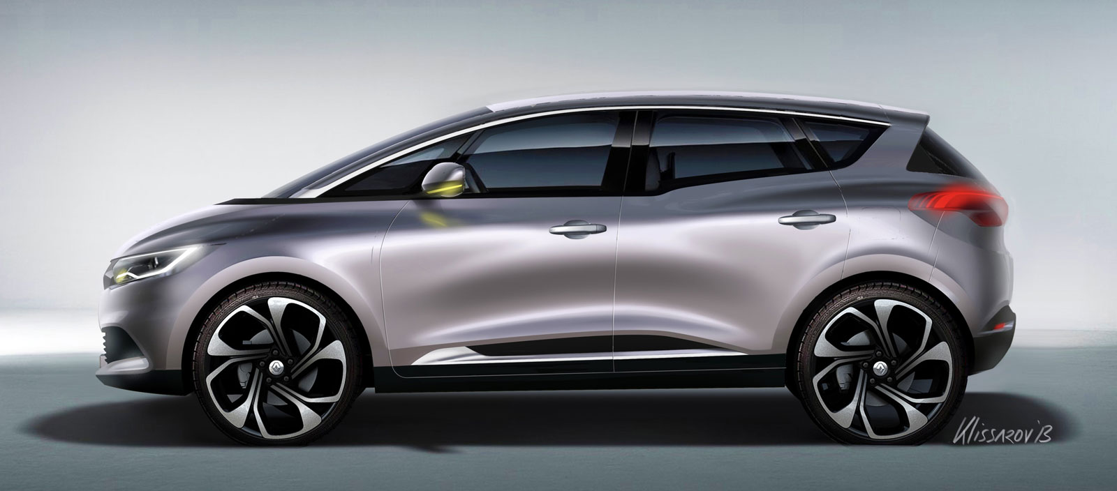 New Renault Scenic Design Sketch Render by Emmanuel ...