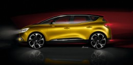 New Renault Scenic Design Sketch Render by Emmanuel Klissarov