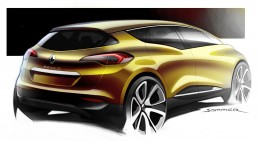 New Renault Scenic Design Sketch Render by Jeremie Sommer