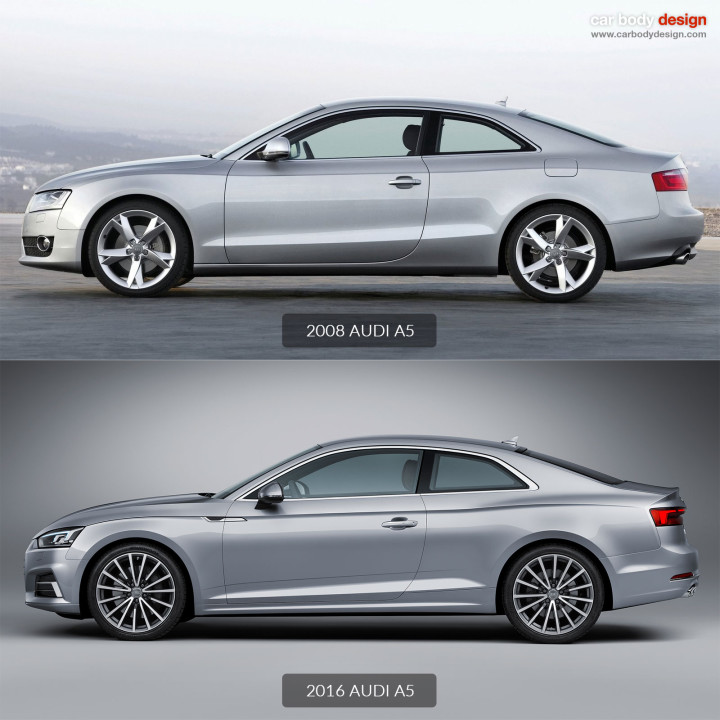 2008 Audi A5 vs 2016 Audi A5 - Design Comparison