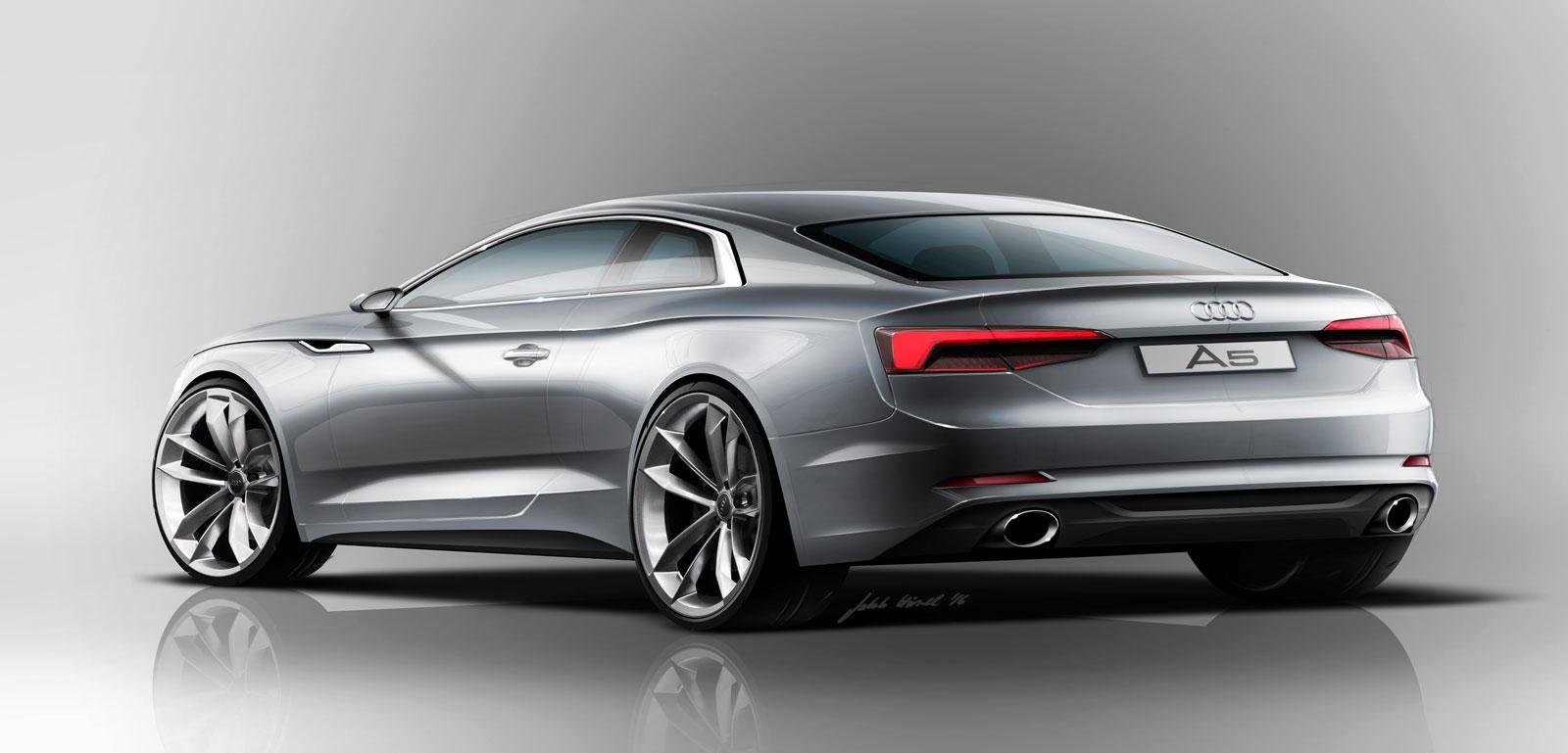 audi a5 coupe design sketch render car body design. Black Bedroom Furniture Sets. Home Design Ideas