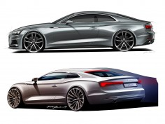 Audi A5 Coupé: design sketches