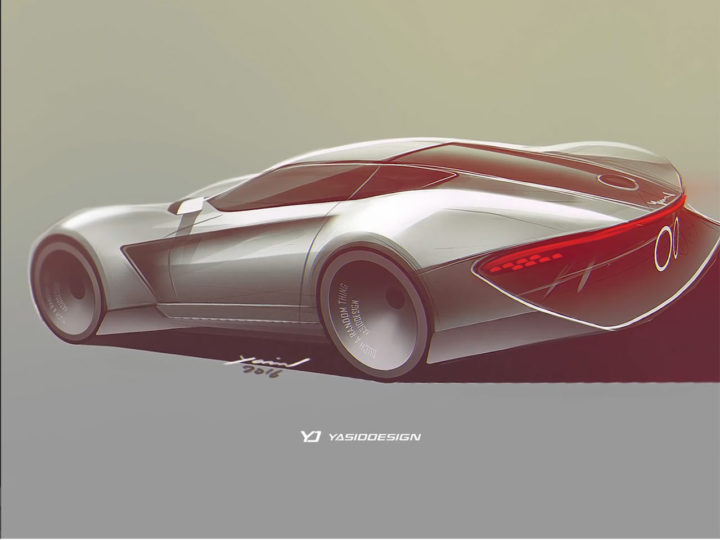 Concept Car Design Sketch and Render video