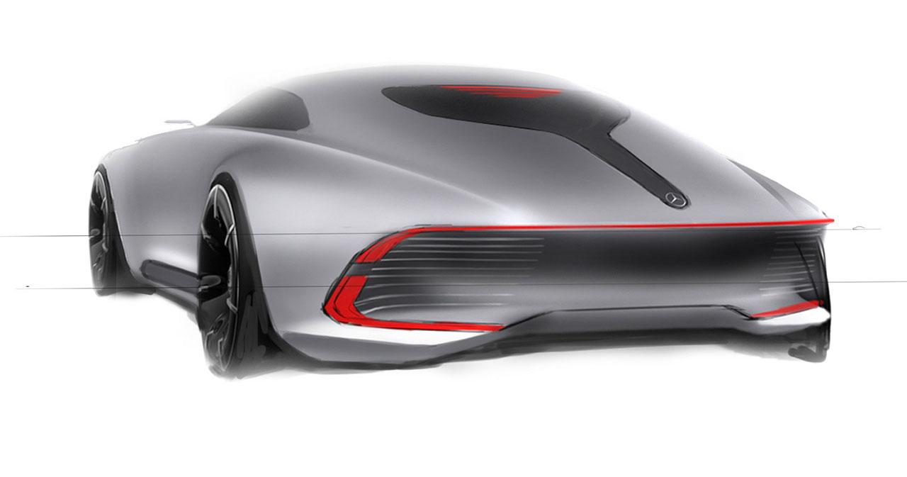 Vision Mercedes Maybach 6 Concept Design Sketch Car Body