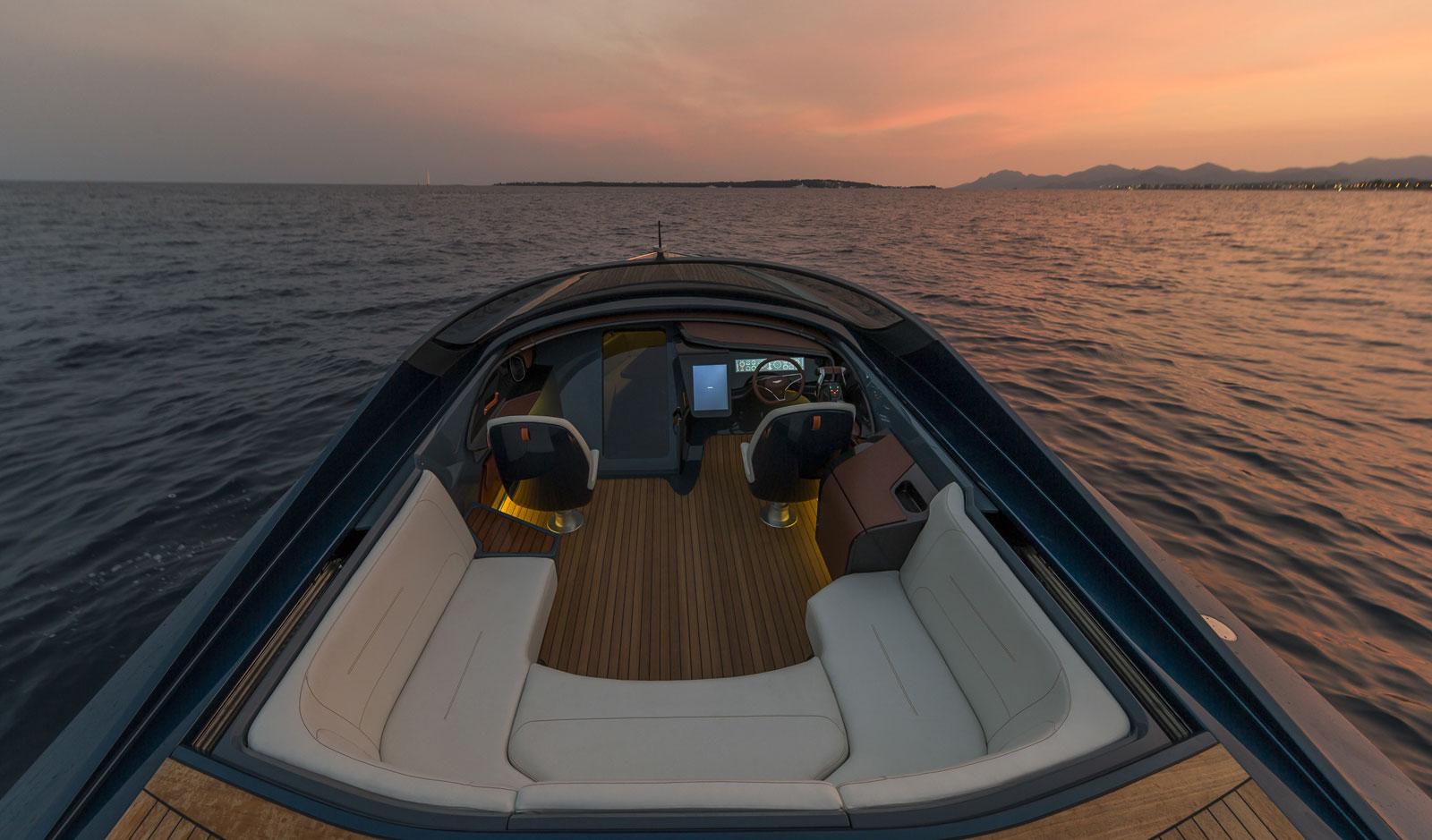 Aston Martin Am37 Powerboat Interior Car Body Design