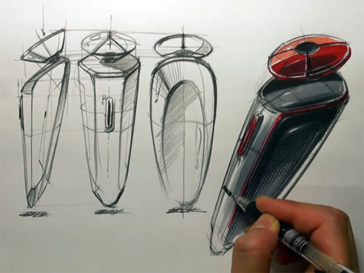 Electric Razor Sketch & Design