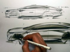 How to draw a car in Tip-Up View