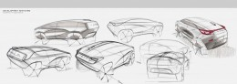 4 Design Sketches by Car Design Academy students