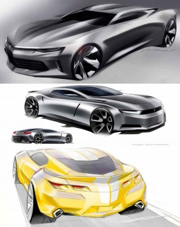 Camaro 2016 Design Sketches