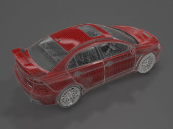Mitsubishi Evolution X free 3D model