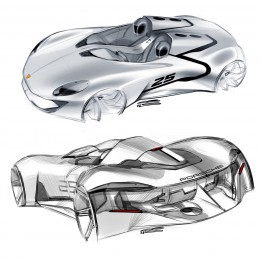 Porsche Concept Design Sketches by Grigory Butin