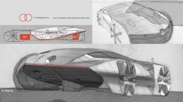 Renault Trezor Concept Design Sketch by Stephane Janin