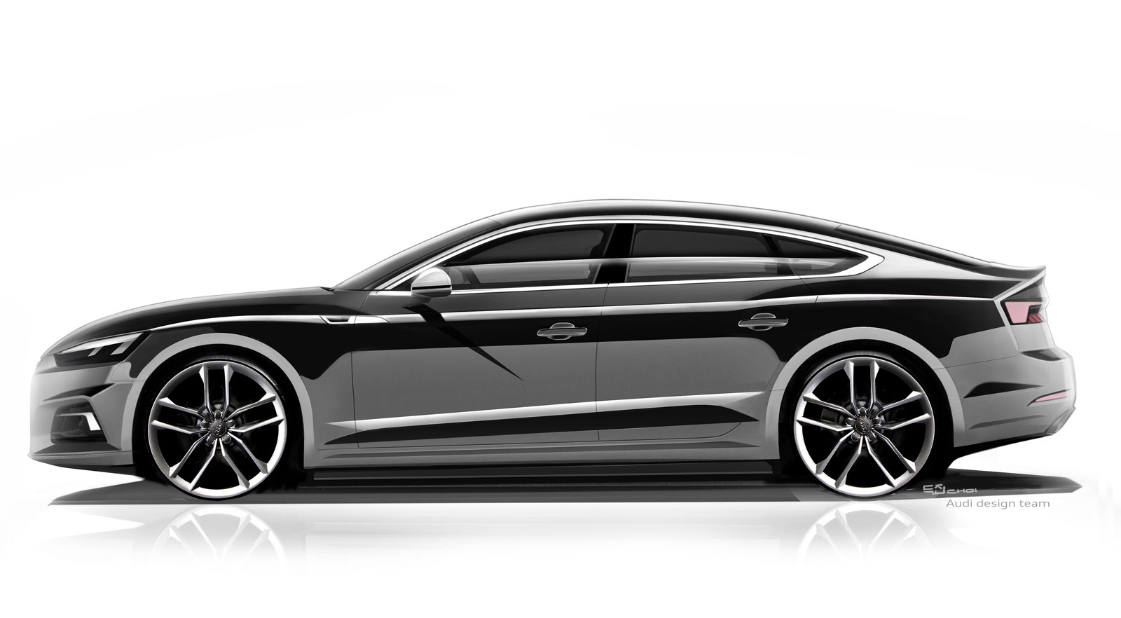 audi a5 sportback design sketch render car body design. Black Bedroom Furniture Sets. Home Design Ideas