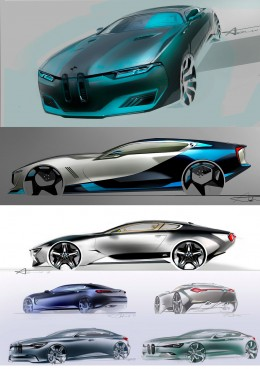 BMW Concept Design Sketches by Andrei Trofimtchouk