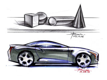 Basic Shapes And Reflections On Car Sketches Car Body Design