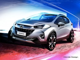 Honda WR V Design Sketch Render