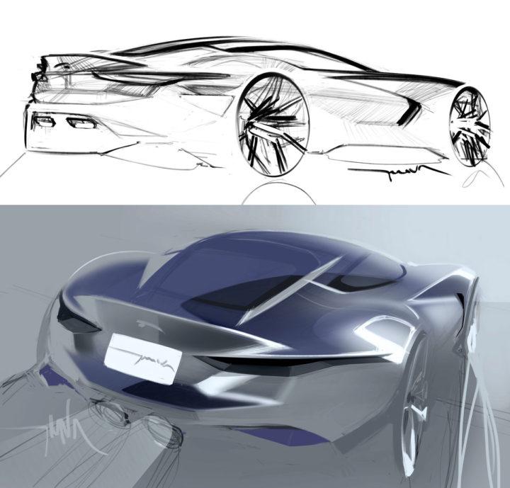 Jaguar Concept: Jaguar Concept Design Sketches By Thomas Stephen Smith