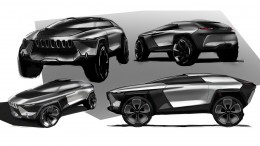 Jeep E PIC Concept by Kefeng Liu Design Sketches