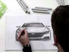 VW previews CC successor with design sketch