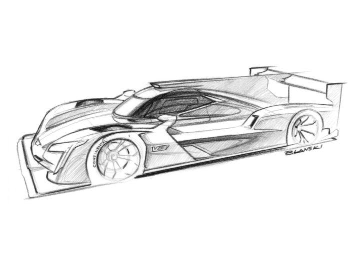 Cadillac DPi VR Race Car Design Sketch