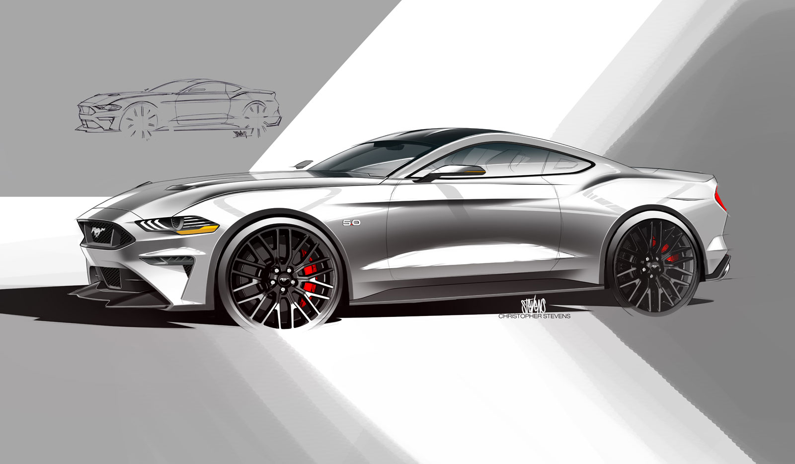 mustang ford s650 gen sketch 2021 seventh put pasture production generation gt cars future detailed official specs render gt500 current